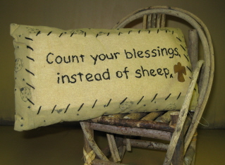 Sheep/Blessings Pillow