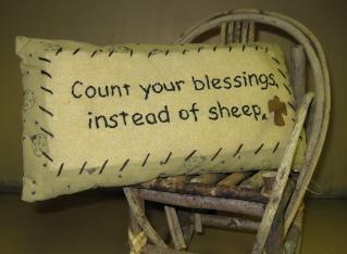 Sheep/Blessings Pillow