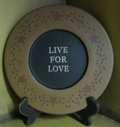 Live for Love Plate