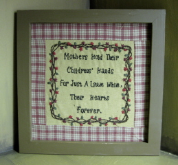 Mother/Child Framed Embroidery