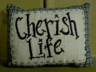 Cherish Life Mini Pillow