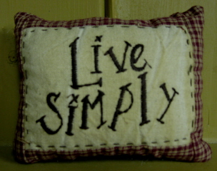 Live Simply Mini Pillow