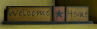 Welcome Home Word Plaque