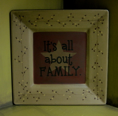 Its All about Family Plate