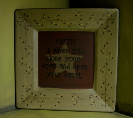 Faith is when...Plate