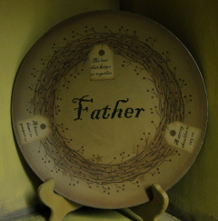 Tags, FATHER, Plate
