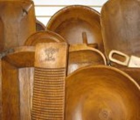 Reproduction Wood-like Bowls, Scoops, Trenchers, etc.