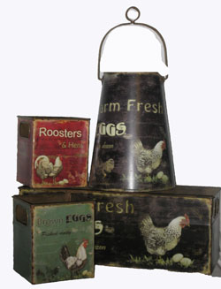 Decorative metal canisters