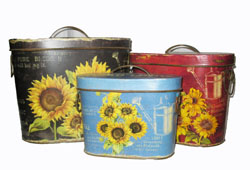 Sunflowers Tins